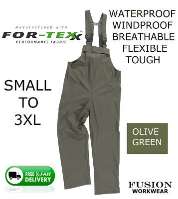 Waterproof Bib And Brace,quality,breathable,trousers,coverall,farm,work,rain,wet • 24.95£