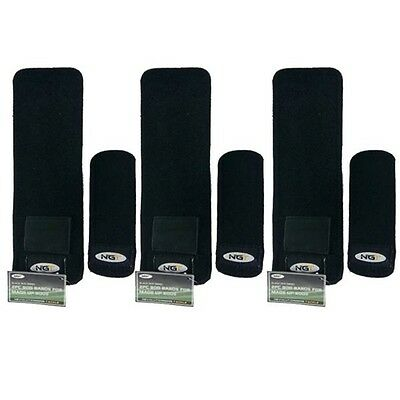 3 X 2pc CARP FISHING ROD BANDS FOR MADE UP RODS NEOPRENE STRAPS NGT • 9.95£