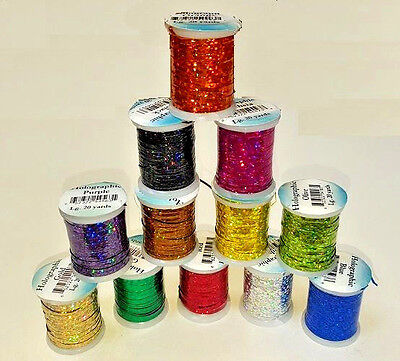 Veniard Fly Tying Holographic Tinsel Spool  Material Small/Medium/Large • 3.25£