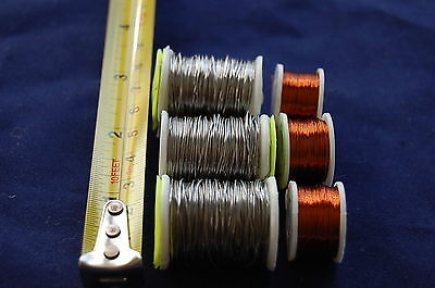 3 Spools Of Lead Wire + 3 Spools Of Copper Wire For Fly Tying • 6.99£
