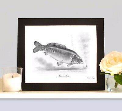 MARY'S MATE Famous Carp Art Print MOUNTED Picture Present For Fisherman Angler • 9.99£