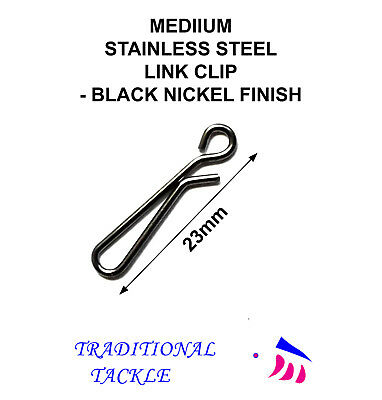 MEDIUM LINK CLIPS 23mm -  SEA FISHING RIG, LEAD WEIGHT • 2.85£