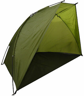Olive Green 2/3 Person Fishing Bivvy Shelter Sea Angling Tent • 17.49£