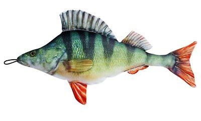 Fish Soft Toy PERCH * 42cm Long * Novelty Gift * Pillow * Cushion * • 12.99£