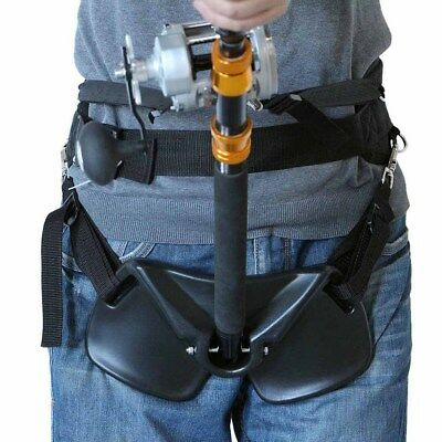 EVA Padded Standing Up Fishing Fighting Belts Waist Harness Rod Pole Holder • 44.59£