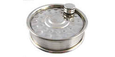 Reel Shaped 6oz Pewter Hip Flask - Fishing Angling Gift Present Fish • 19.99£