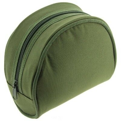 Reel Cases For Coarse Carp Fishing Reels Small Green Padded Ngt • 11.95£