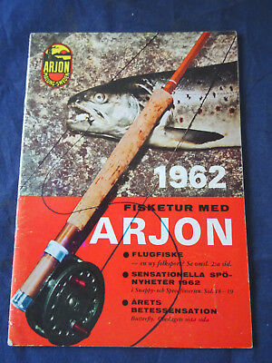 A Rare Vintage Arjon Of Sweden Fishing Catalogue For 1962 • 37.99£
