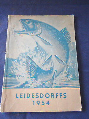 A Rare Vintage Leidesdorffs Of Sweden Fishing Catalogue For 1954 • 59.99£