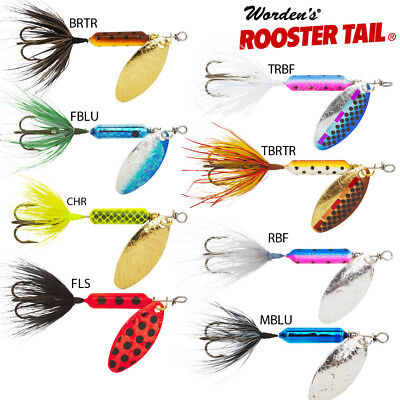 Rooster Tail Spinner, Wordens,Trout & Salmon  3 Wts 3.5gm - 7gm No1 Lure In USA • 4.99£