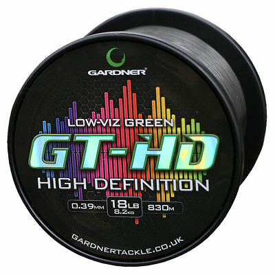 Gardner GT HD Low Vis Green Mainline *All Breaking Strains* Fishing Line • 19.65£