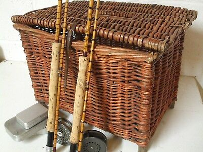 Vintage Large Top Quality Cane Fishing Basket / Box    **Pure Class** • 99.95£