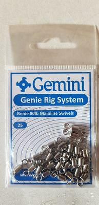 Gemini Rig System - Genie 80lb Power Swivels - 25's • 2.30£