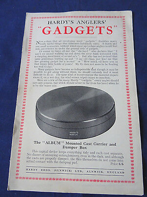 Rare Vintage Hardy Advertising Pamphlet For Hardy Anglers' Gadgets • 26.99£