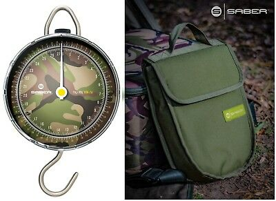 Saber Fishing Scales Camo Dial DPM Portable Weigh + Pouch Travel Carp Sea Tackle • 31.99£