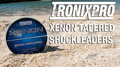 Tronixpro Xenon Tapered Shock Leader Leaders (5x15m) Orange & Clear Available • 8.99£