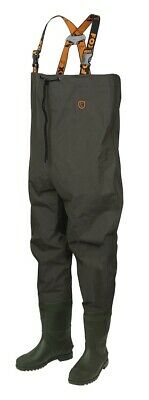 Fox Carp Fishing Lightweight Green Chest Waders - All Sizes • 49.99£