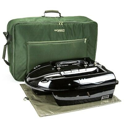 Saber Bait Boat Bag Large Fishing Padded Carp Carryall Luggage + Waverunner UK • 59.95£