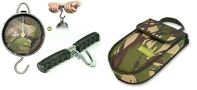 Saber Fishing Scales Camo Dial Portable DPM + Weigh Bar & Pouch Travel Sea 60lb • 37.95£