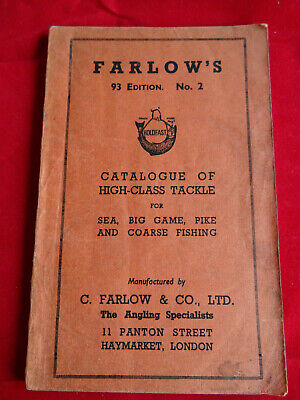 A Good C Farlow Advertising Fishing Catalogue 93rd Edition  No.2 Big Game Etc. • 42.99£