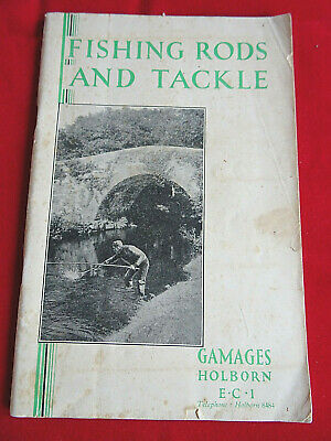A Scarce Vintage 1930's Gamages Fishing Advertising Catalogue • 29.99£