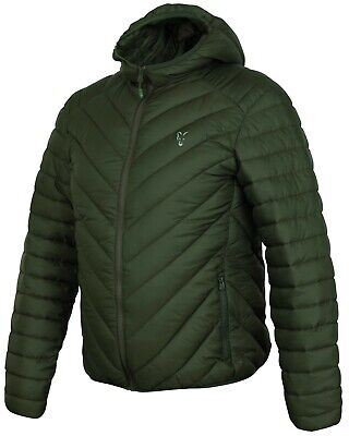 Fox Carp Fishing Clothing - Green & Silver Collection Quilted Jacket - All Sizes • 59.99£
