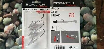Scratch Tackle Pico Jig Heads 28g, 4/0 Hook...bass, Pollack , Cod Fishing • 6.99£