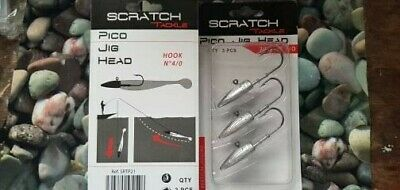 Scratch Tackle Pico Jig Heads 21g, 4/0 Hook...bass, Pollack , Cod Fishing • 6.99£