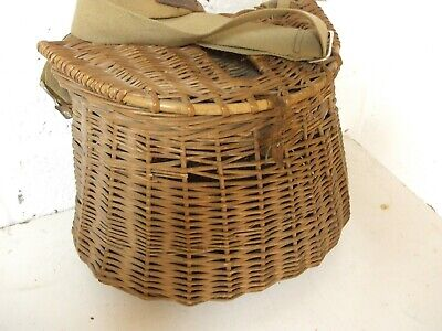 Vintage Early Wicker Fishing Creel. • 49.95£