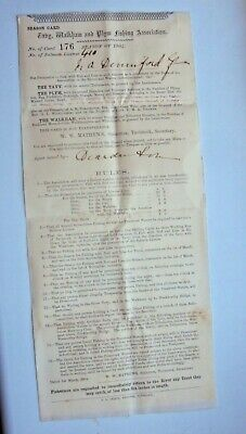 1904 Taby, Walkham & Plym Salmon Fishing Licence Issued To M A Denniford • 9.99£
