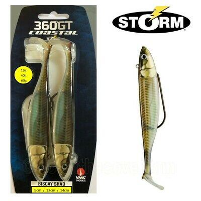 2 Storm 360GT Coastal Biscay Shad Weedless Lure 19g 40g Or 60g - Sandeel • 9.59£