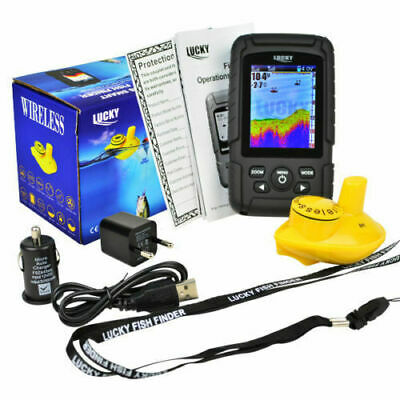 Colour Wireless Fish Finder - 100 Metre Range, Depth, Features, Carp, Boat, Rod • 84.99£