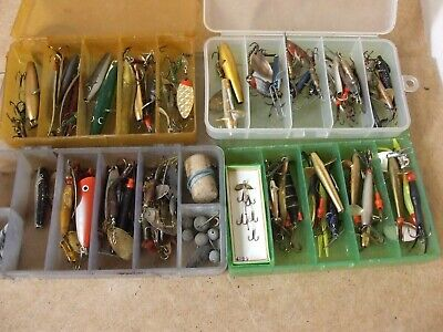 Vintage Fishing Lure Collection  X 4 Boxes • 49.95£