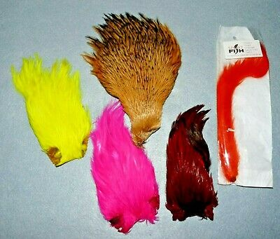 A Good Selection Of Fly Tying Feathers / Capes • 8.99£