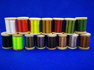 75D 8/0 Waxed Silk Fly Tying Thread By Rede River. 15 Colours - 250 Yard Spool • 3.95£
