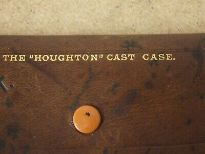 Vintage Early HARDY BROTHERS 'HOUGHTON' Leather Fly Cast Wallet  *Lovely Cond. * • 99.95£
