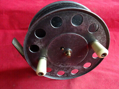 A Rare Size 4 1/2  J W Young Trade Pattern 9 Centrepin Reel Retailed By J Peek • 239.99£