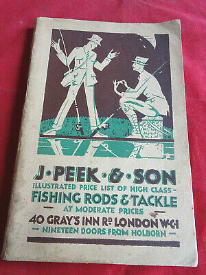 A Scarce Vintage J Peek & Son Fishing Catalogue Circa 1929/30 • 34.99£