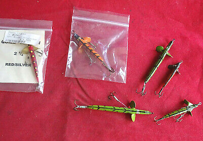 A Small Collection Of 6 Quill Minnow Lures For Sea Trout Some Unused • 15.99£