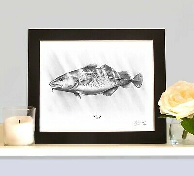 COD Limited Edition Sea Fish Picture Print Beach Boat Fishing Gift Collectable • 9.99£