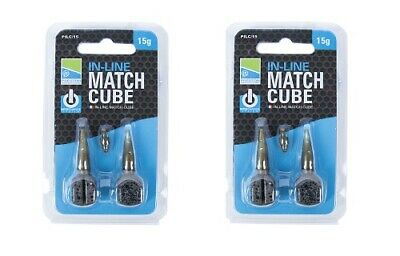 2 X Preston Innovations ICS In-Line Match Cubes Bombs *ALL SIZES* - BEST PRICE • 6.65£