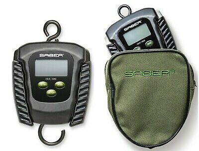 Saber Digital Folding Fishing Scale And Pouch Electronic Weigh Carp 110lb 50K • 29.99£