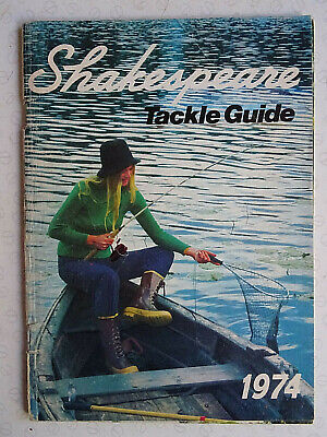 Vintage Shakespeare Tackle Guide Fishing Advertising Catalogue For 1974 • 14.99£