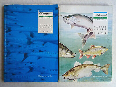 2x Vintage Shakespeare Fishing Catalogues For 1991 And 1992 • 14.99£