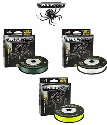 Spider Wire Dura-4 Braided Line *FULL RANGE* Fishing Braid - BEST PRICE • 17.50£