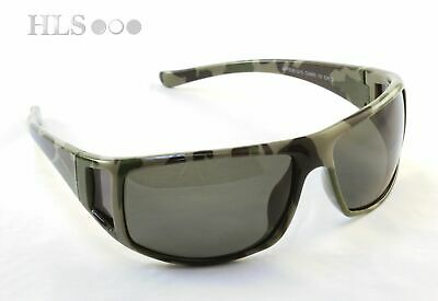 Polarised Camo Green Fishing Sun Glasses Outdoor Grey Lens Reduce Glare HLS  • 14£