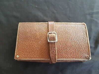 A Vintage Leather Fly Wallet 5-1/2  X 3-1/4  (140 Mm X 83 Mm)  Fair Condition  • 25£
