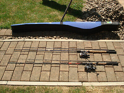 2 X Fishing Rods And  2 Reels With Preston Rod Hardcase Hard Case Match Course  • 77.99£