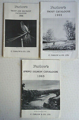 3x Vintage Farlow's Advertising Fishing Catalogues For 1965/66 • 16.99£