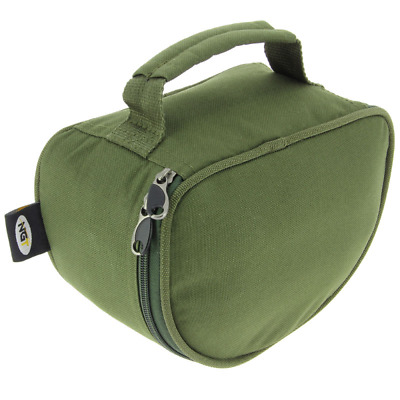Fishing Reel Case Fits Carp Big Pit Reels Deluxe Green Cases Ngt • 8.49£